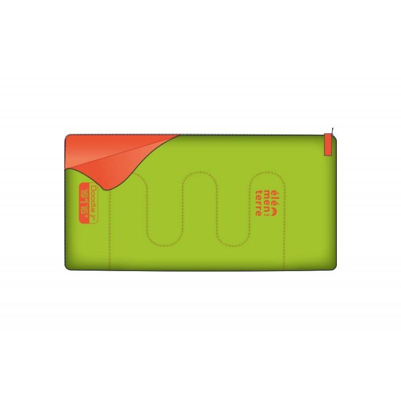 Sac de couchage pour enfant vert/orange